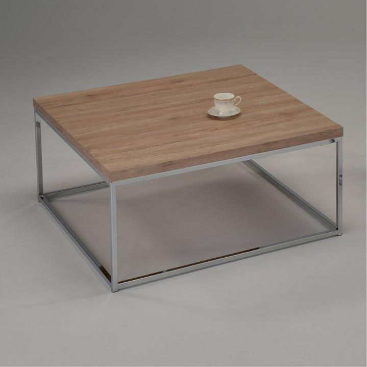 Konferenční stolek, dub sonoma, chrom, Natanel