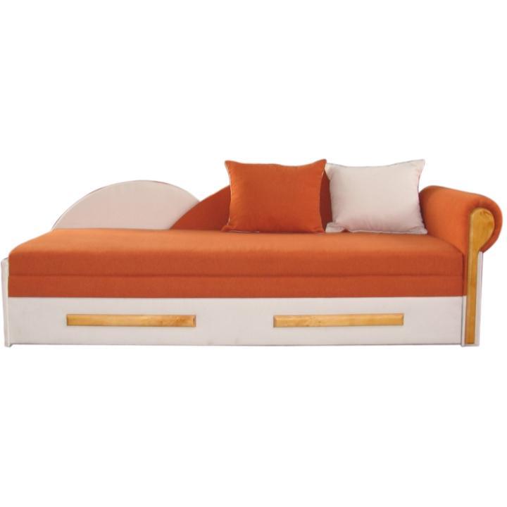 Rozkládací pohovka - oranžovo/béžová, pravá DIANE