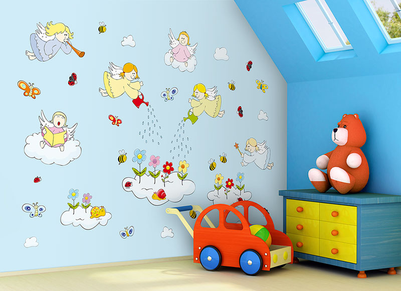 Samolepící dekorace na zeď ANDĚLÉ
