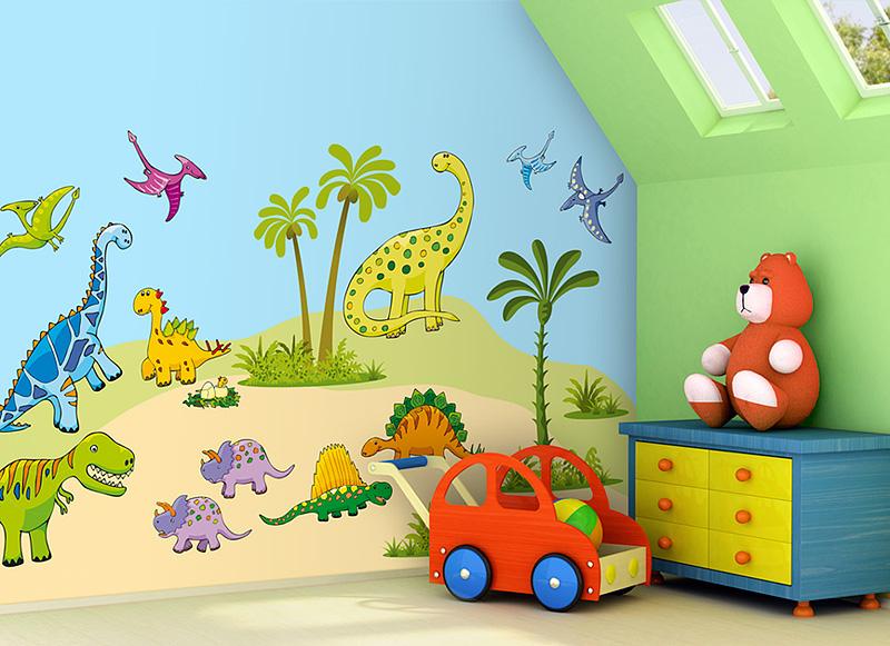 Samolepící dekorace na zeď Dinosauři