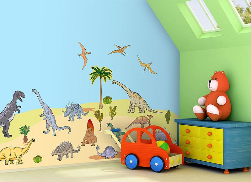 Samolepící dekorace na zeď Dinosauři C2