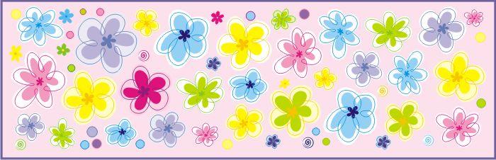 Dekorace na zeď Květiny