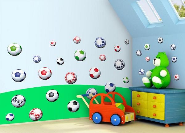 Samolepky na zeď Fotbalové míče