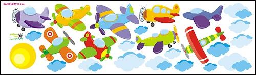 Samolepící dekorace Letadla