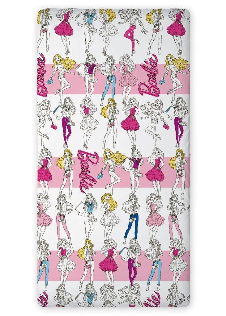 Bavlněné prostěradlo Barbie 90x200