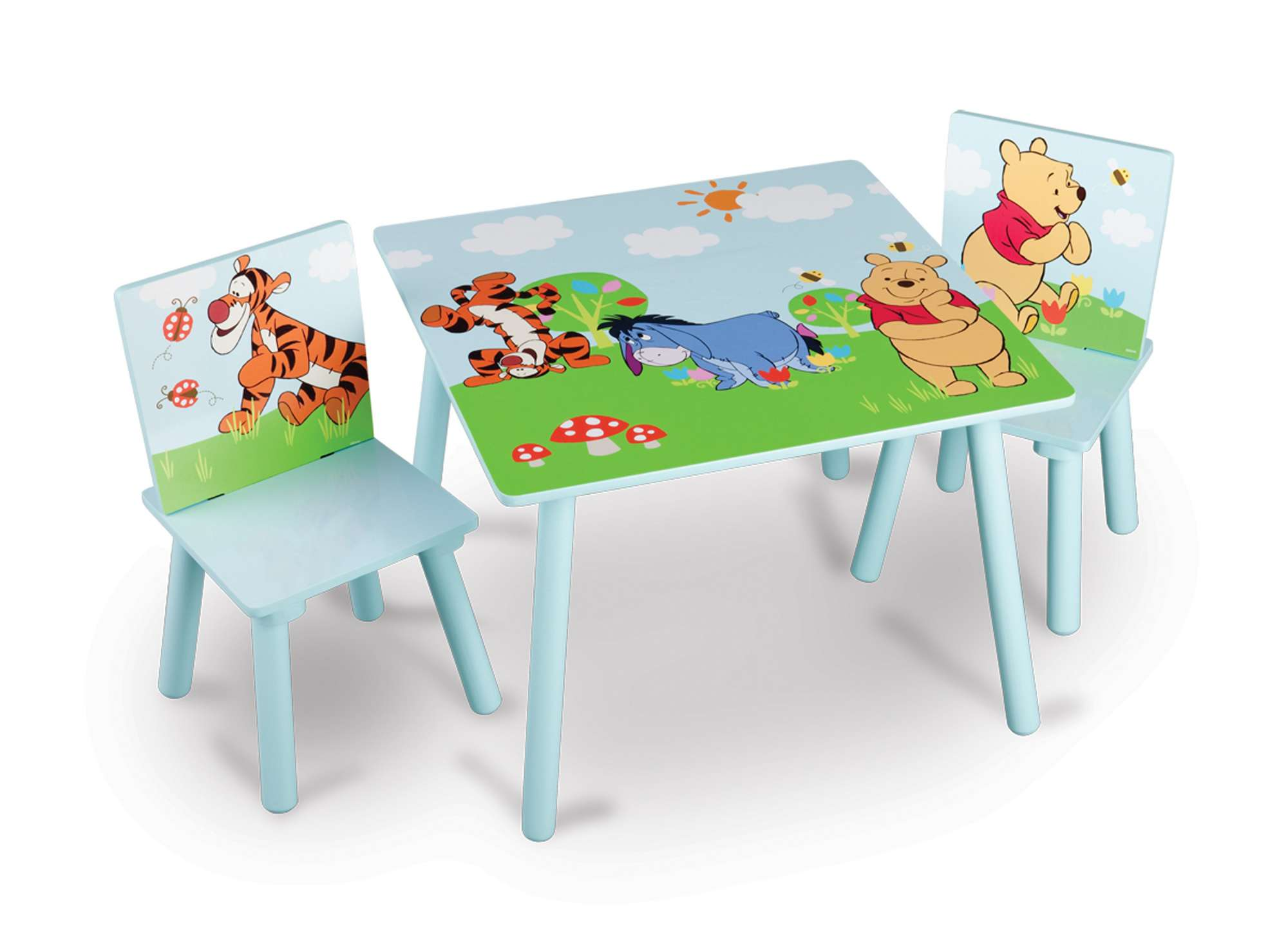 Dětský stůl s židlemi Medvídek Pú