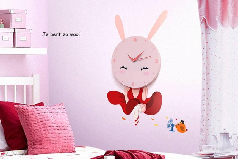 Dětské hodiny Roztomilý králíček