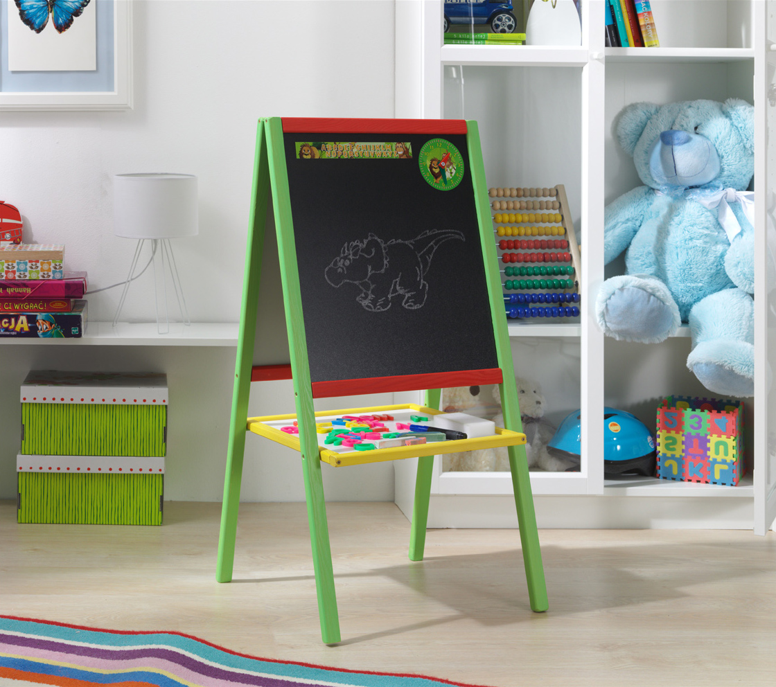 Dřevěná dětská magnetická tabule