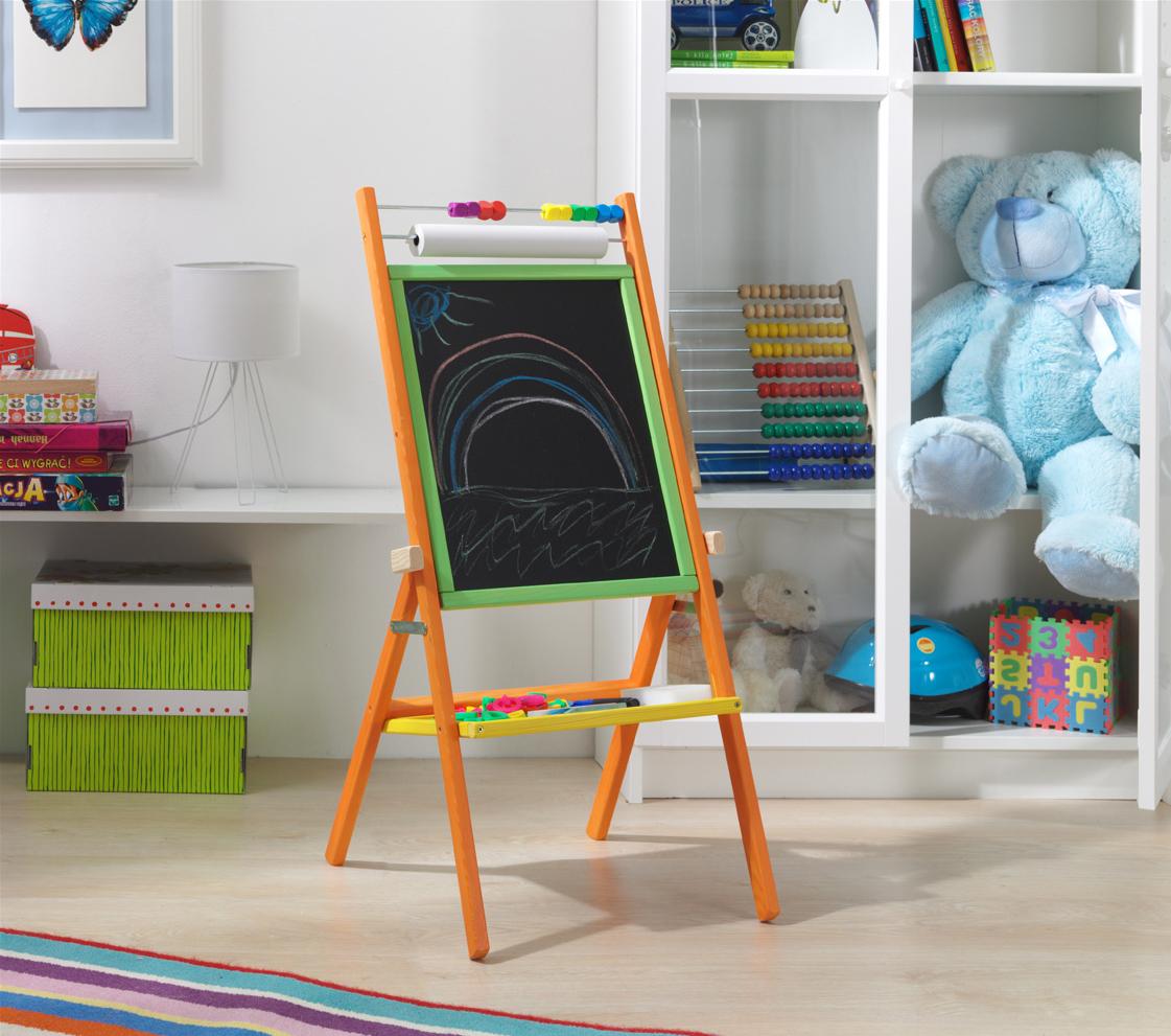 Otočná magnetická dětská tabule - barevná