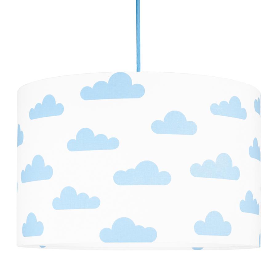 Textilní závěsná lampa Obláčky - bílá