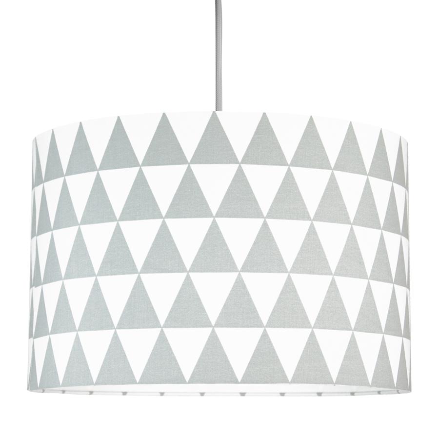 Textilní závěsná lampa Triangle - šedá
