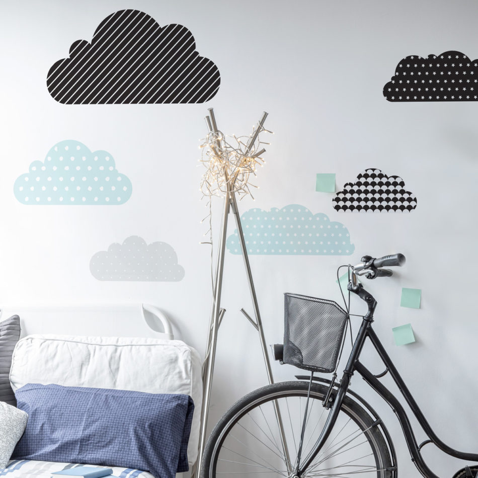 Dekorace na zeď DEKORNIK - Obláčky