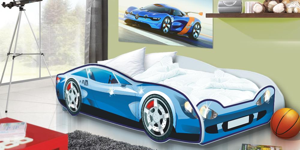 Dětská postel Auto Speedy modré