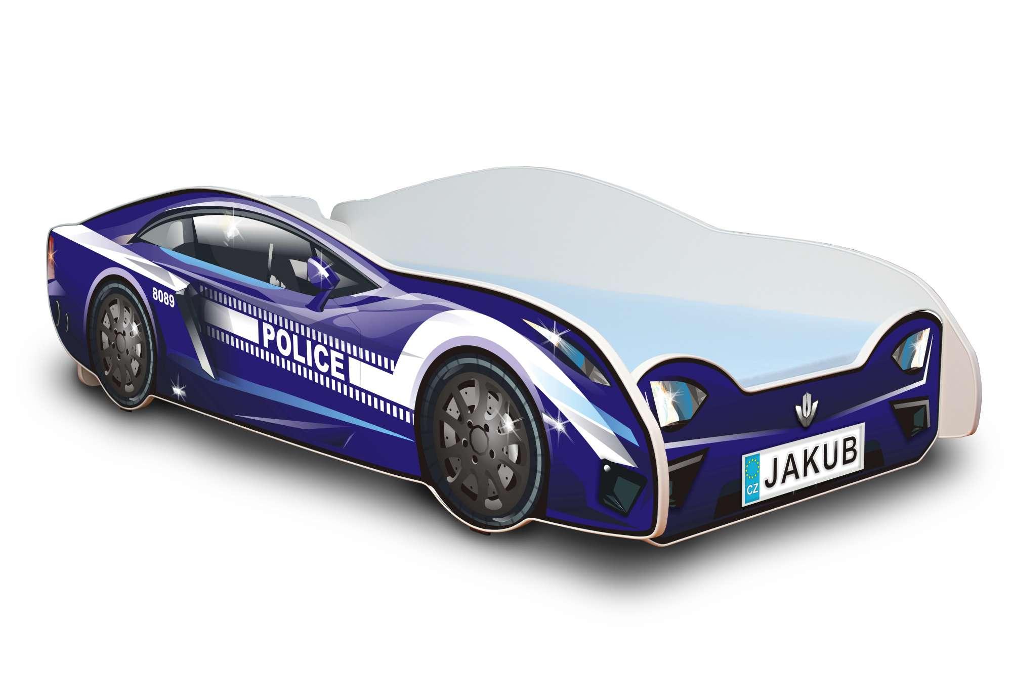 Dětská postel - Policejní auto