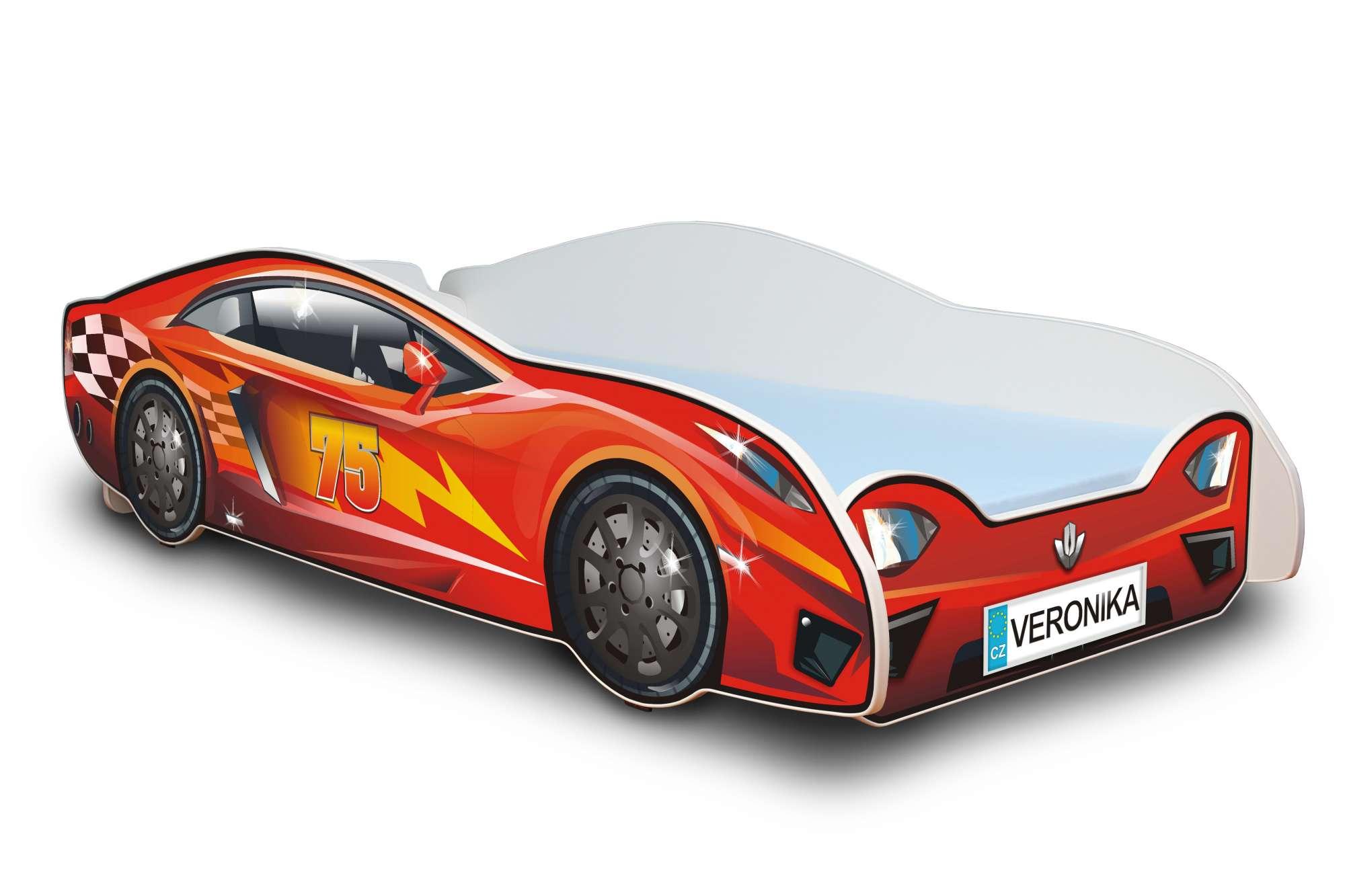 Dětská postel - Závodní auto